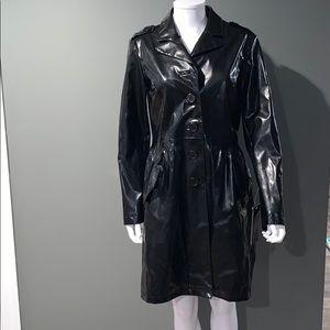 NWT Bagatelle WOMANS black trench coat SZ.M